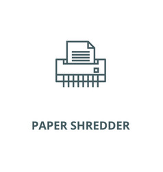 Paper shredderoffice printer line icon vector