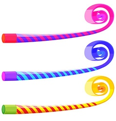 Party musical straw in many colors vector image