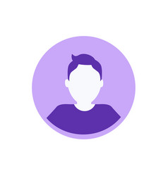 person private userpic business character profile vector image