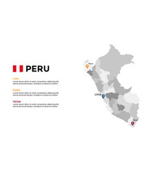 peru map infographic template slide vector image