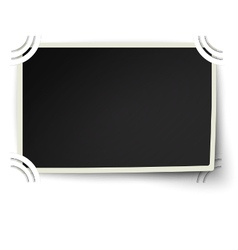 Photo frame with one not fixed corner in album vector image