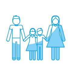 Pictogram family design vector