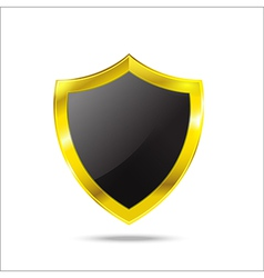 Protection Glod empty shield on the white vector