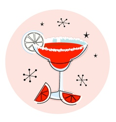 retro red margarita vector image