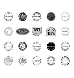 satisfaction quality premium guarantee logo set vector image