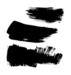 Set of ink brush stroke stains Grunge vector