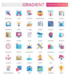 set trendy flat gradient creative vector image