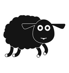 sheep icon simple style vector image