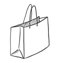 single sketch shopping bag vector image