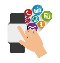 smart watch wearable technology communication vector image