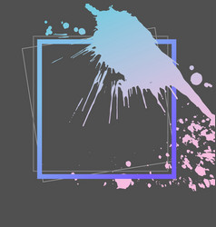 Splash ink frame template gradient art vector