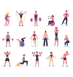 sport people young athletes at gym male vector image