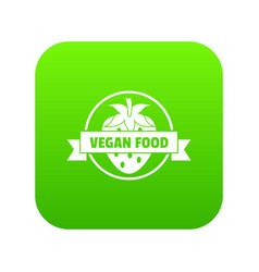 strawberry icon green vector image