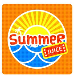 Summer juice label vector image
