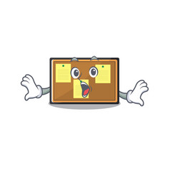 Surprised bulletin board isolated in mascot vector
