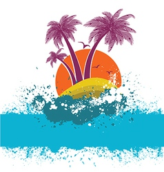 Symbol of tropical island vector