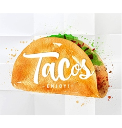 Tacos watercolor vector