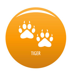 Tiger step icon orange vector