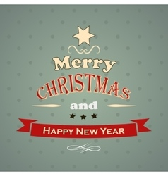 Typography Christmas Greeting Card vector