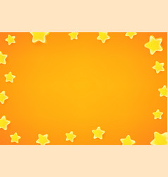 Wallpaper with gold stars frame with copy space vector