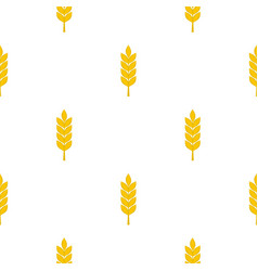 Wheat spike pattern seamless vector