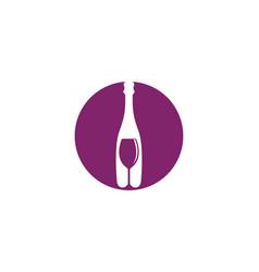 wine logo template vector image