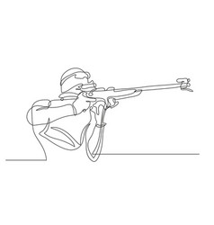 Winter sports biathlon vector