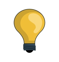 Yellow bulb light vector