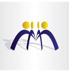 business people team work vector image