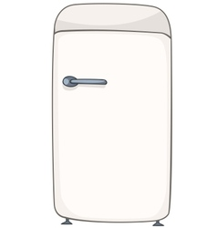cartoon home kitchen refrigerator vector image