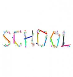 inscription school vector image vector image