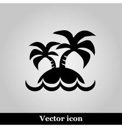 island icon on grey background vector image vector image