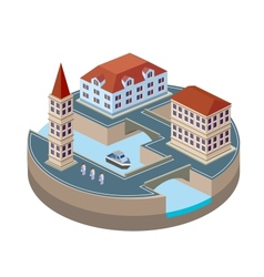 Isometric city vector image vector image