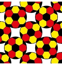 Pattern for football championship A soccer ball vector image