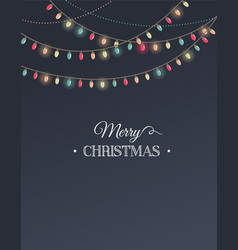 Vintage Christmas design with garlands vector image vector image