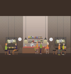 brasserie concept in flat vector image