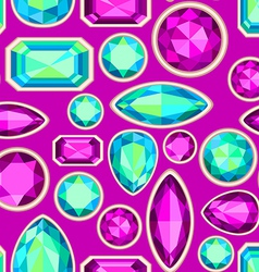 gemstone seamless pattern vector image vector image