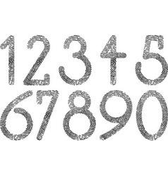 numbers fingerprint vector image