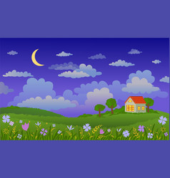 beautiful landscape at vector image