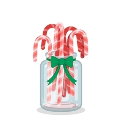 Christmas Decoration with Candy Canes vector image vector image