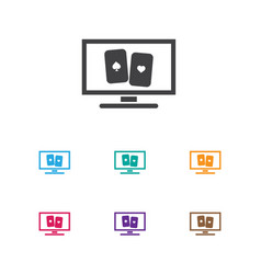 Of game symbol on cards icon vector