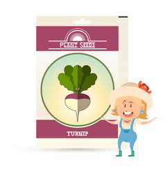 Pack of turnip seeds icon vector