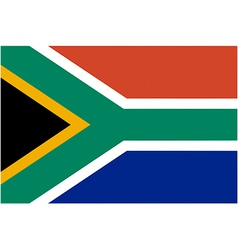 south african flag vector image vector image