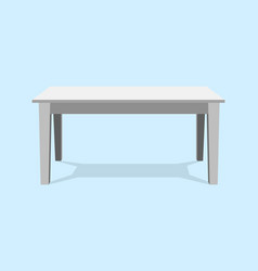 white table platform stand template for object vector image vector image