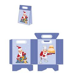 cute santa claus handbags packages pattern vector image vector image