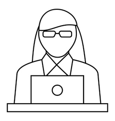 Female consultant icon outline style vector