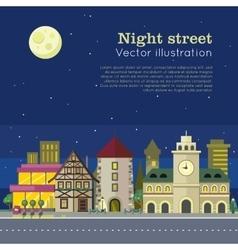 Night City Web Banner vector image