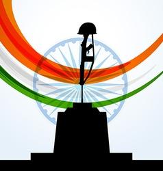 Patriotic indian flag design vector