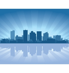 phoenix arizona skyline vector image
