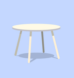 round table for modern living room reception or vector image vector image